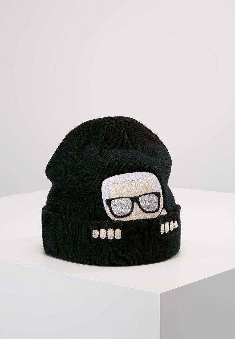 KARL LAGERFELD - IKONIK BEANIE - Mütze - black