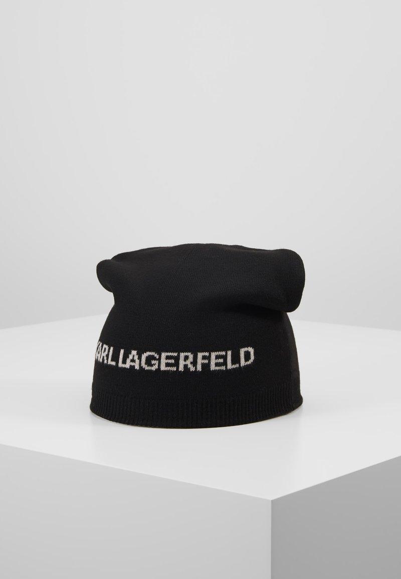 KARL LAGERFELD - REVERSIBLE BEANIE - Mössa - black/mist