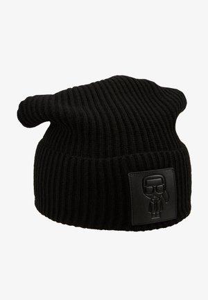 IKONIK PATCH BEANIE - Bonnet - black