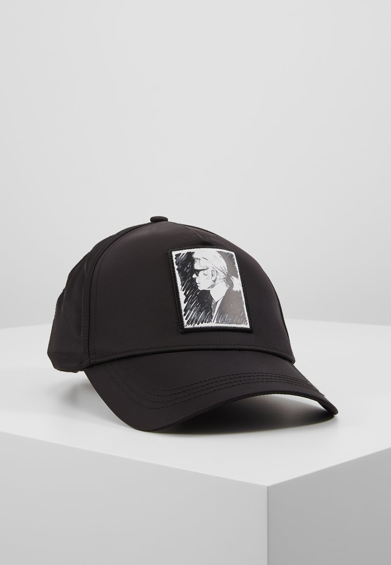 KARL LAGERFELD - KARL LEGEND CAP - Kšiltovka - black