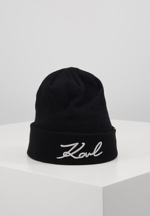 SIGNATURE BEANIE - Bonnet - black