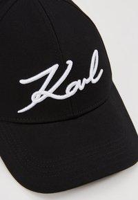 KARL LAGERFELD - SIGNATURE CAP - Kšiltovka - black - 5