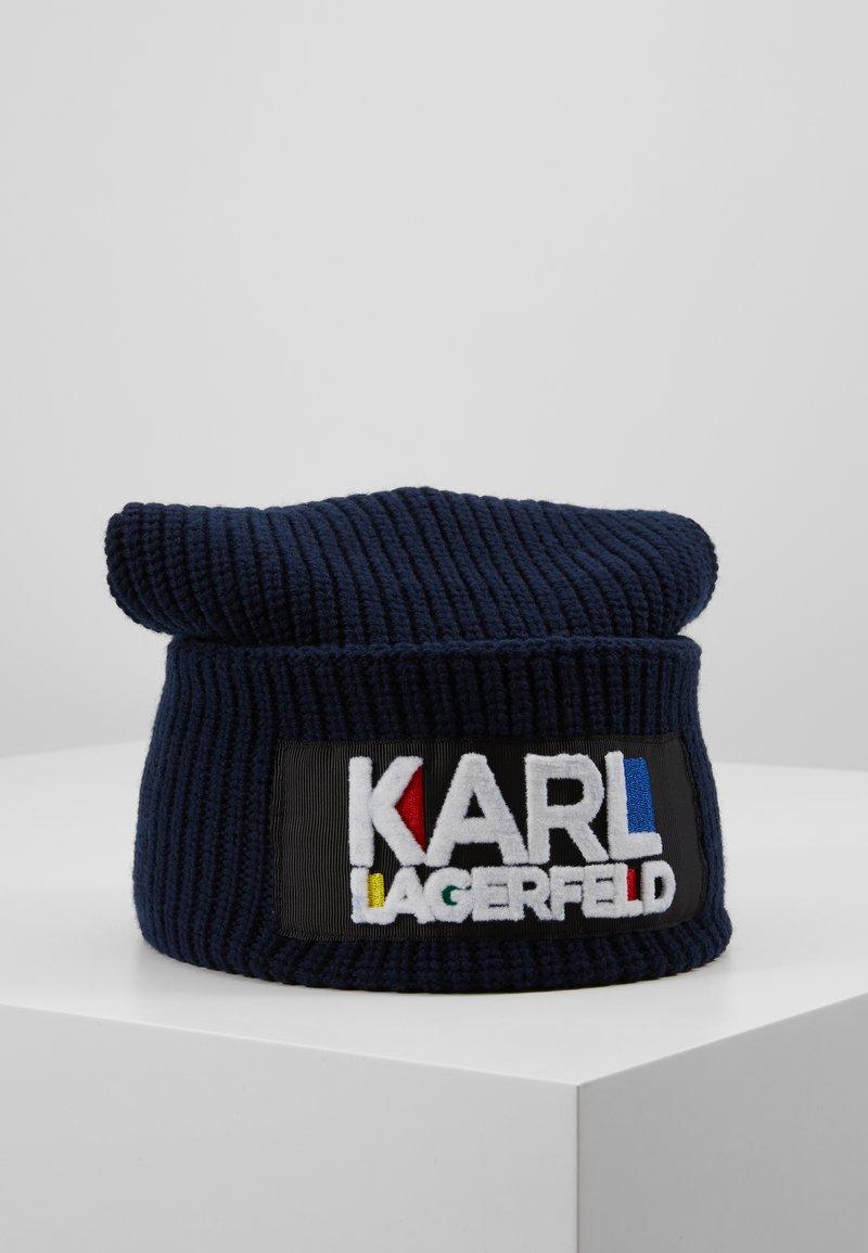 KARL LAGERFELD - KARL BAUHAUS BEANIE - Beanie - navy