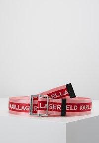 KARL LAGERFELD - LOGO WEBBING BELT - Pásek - cerise - 0