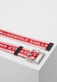 KARL LAGERFELD - LOGO WEBBING BELT - Pásek - cerise - 2