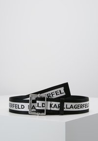 KARL LAGERFELD - LOGO WEBBING BELT - Gürtel - black - 0