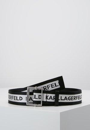 LOGO WEBBING BELT - Vyö - black