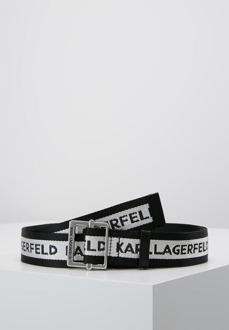 KARL LAGERFELD - LOGO WEBBING BELT - Gürtel - black