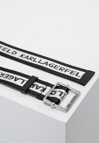 KARL LAGERFELD - LOGO WEBBING BELT - Belt - black - 2