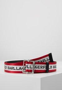 KARL LAGERFELD - LOGO WEBBING BELT - Belt - red - 0