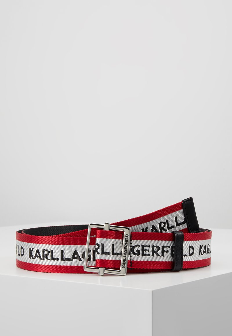 KARL LAGERFELD - LOGO WEBBING BELT - Bælter - red