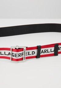 KARL LAGERFELD - LOGO WEBBING BELT - Belt - red - 4