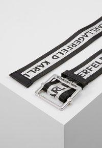 KARL LAGERFELD - LOGO WEBBING BELT - Pásek - black - 2