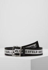 KARL LAGERFELD - LOGO WEBBING BELT - Belte - black - 0