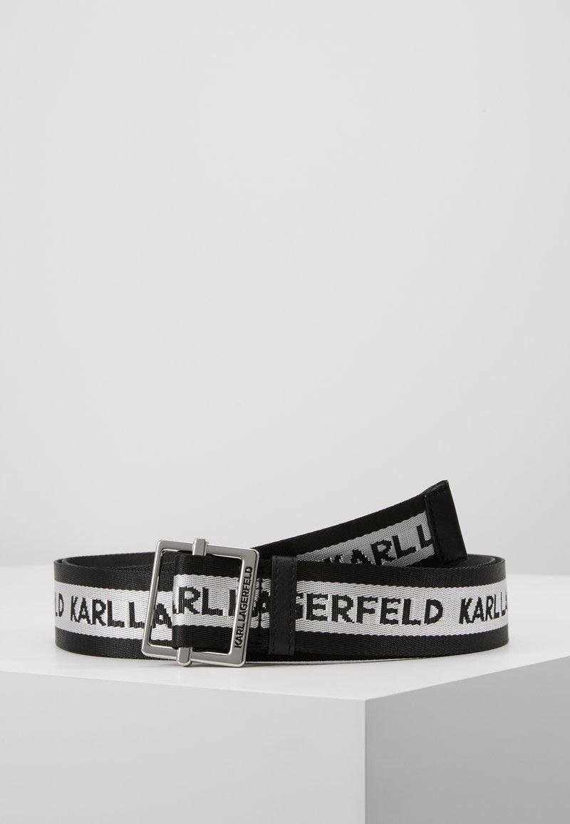 KARL LAGERFELD - LOGO WEBBING BELT - Bælter - black