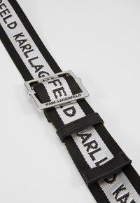 KARL LAGERFELD - LOGO WEBBING BELT - Pásek - black - 4