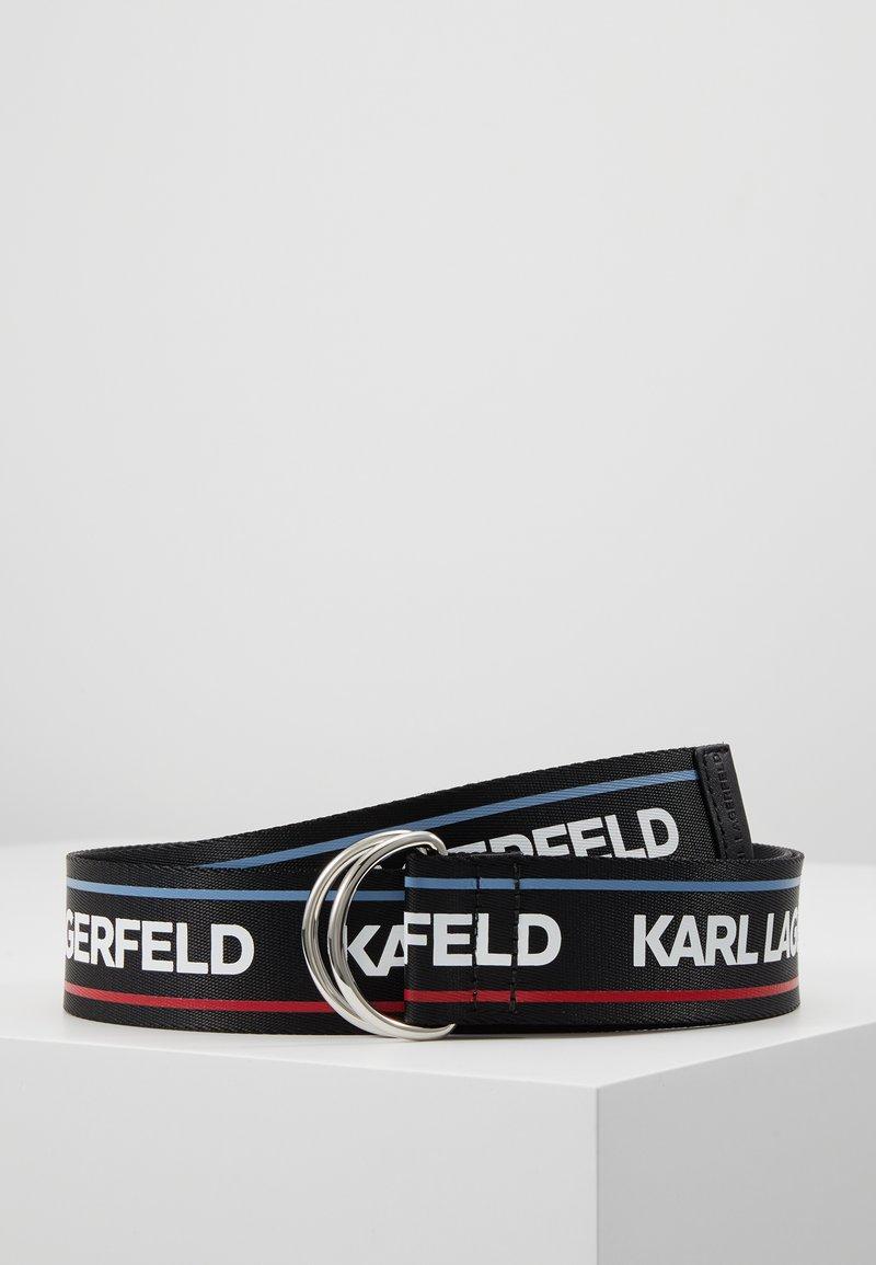 KARL LAGERFELD - WEBBING WAIST BELT - Cinturón - black