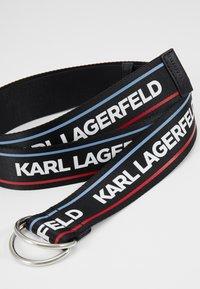 KARL LAGERFELD - WEBBING WAIST BELT - Vyö - black - 3