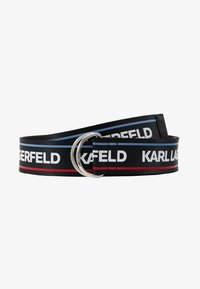 KARL LAGERFELD - WEBBING WAIST BELT - Cinturón - black - 4