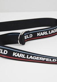KARL LAGERFELD - WEBBING WAIST BELT - Vyö - black - 5