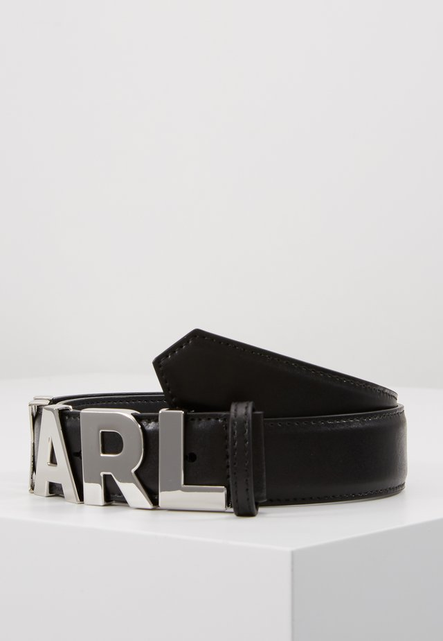 LETTERS BELT - Skärp - black
