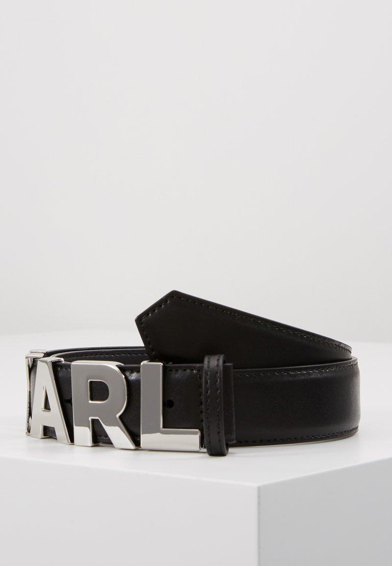 KARL LAGERFELD - LETTERS BELT - Ceinture - black