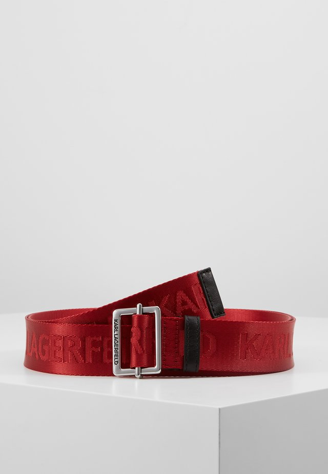 LOGO BELT - Cintura - red