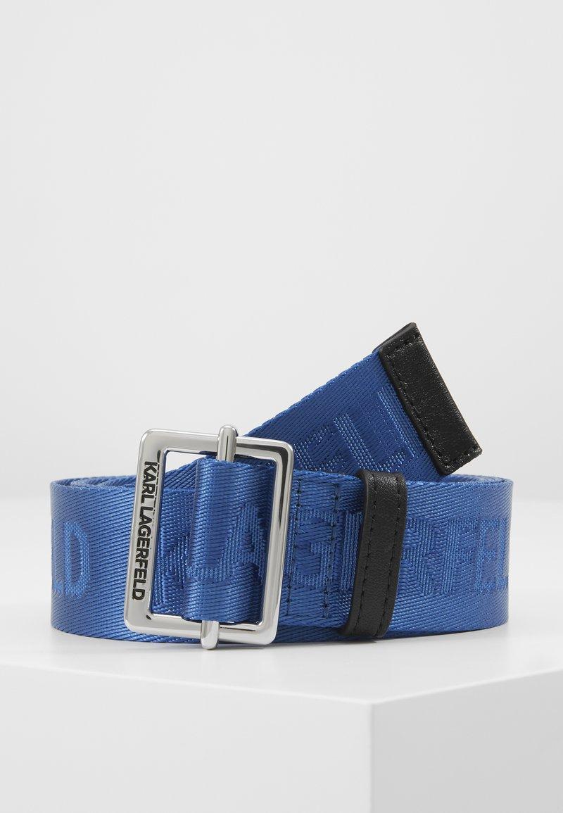 KARL LAGERFELD - LOGO BELT - Pasek - dark blue
