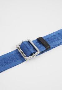 KARL LAGERFELD - LOGO BELT - Pasek - dark blue - 2