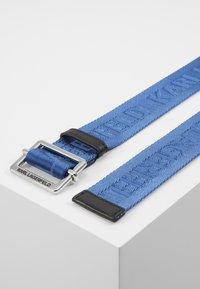 KARL LAGERFELD - LOGO BELT - Pasek - dark blue - 3