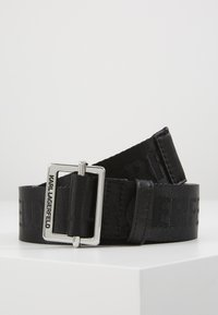 KARL LAGERFELD - LOGO BELT - Belt - black - 0