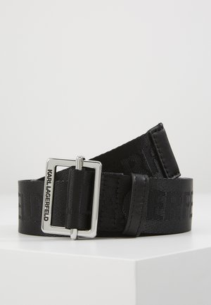 LOGO BELT - Cintura - black