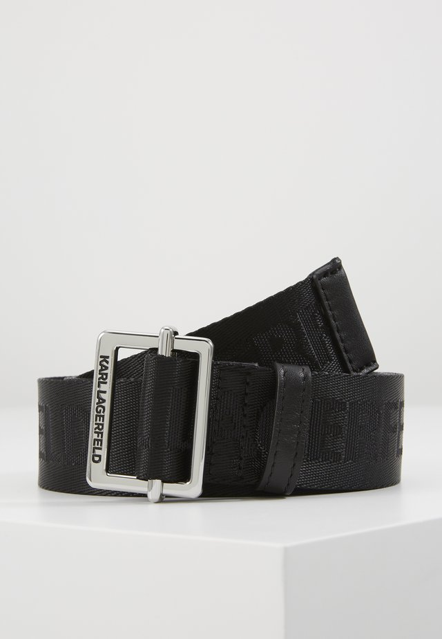LOGO BELT - Bælter - black