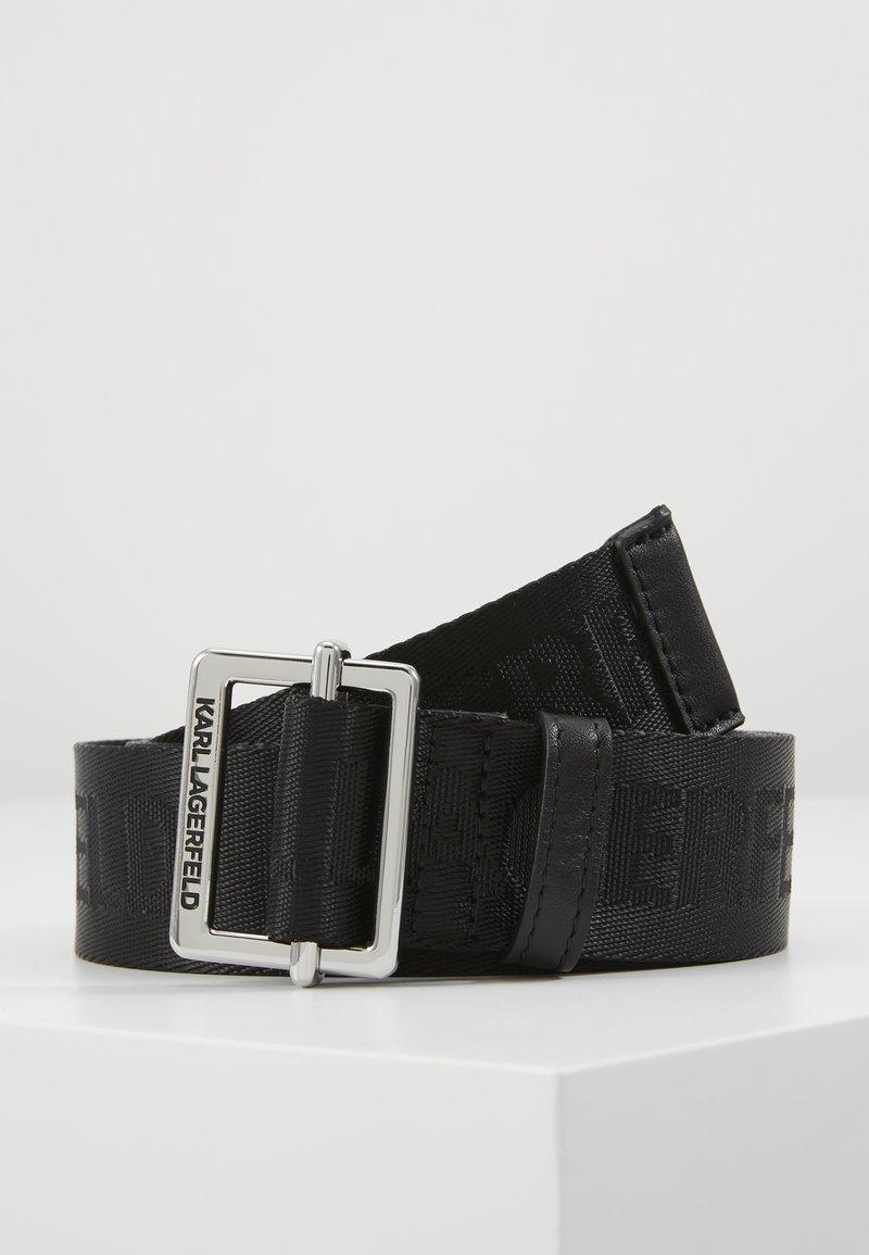 KARL LAGERFELD - LOGO BELT - Belt - black