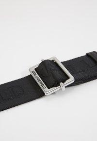 KARL LAGERFELD - LOGO BELT - Belt - black - 2