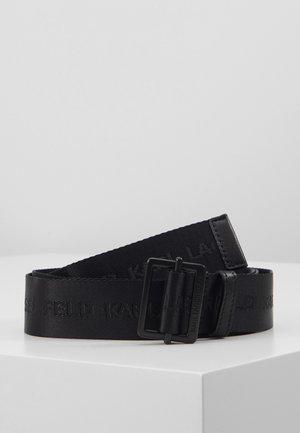 LOGO BELT - Pásek - black
