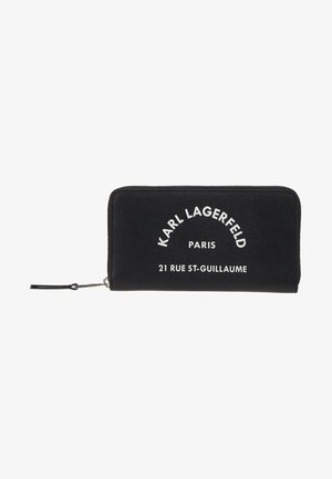 RUE ST GUILLAUME ZIP WALLET - Lompakko - black