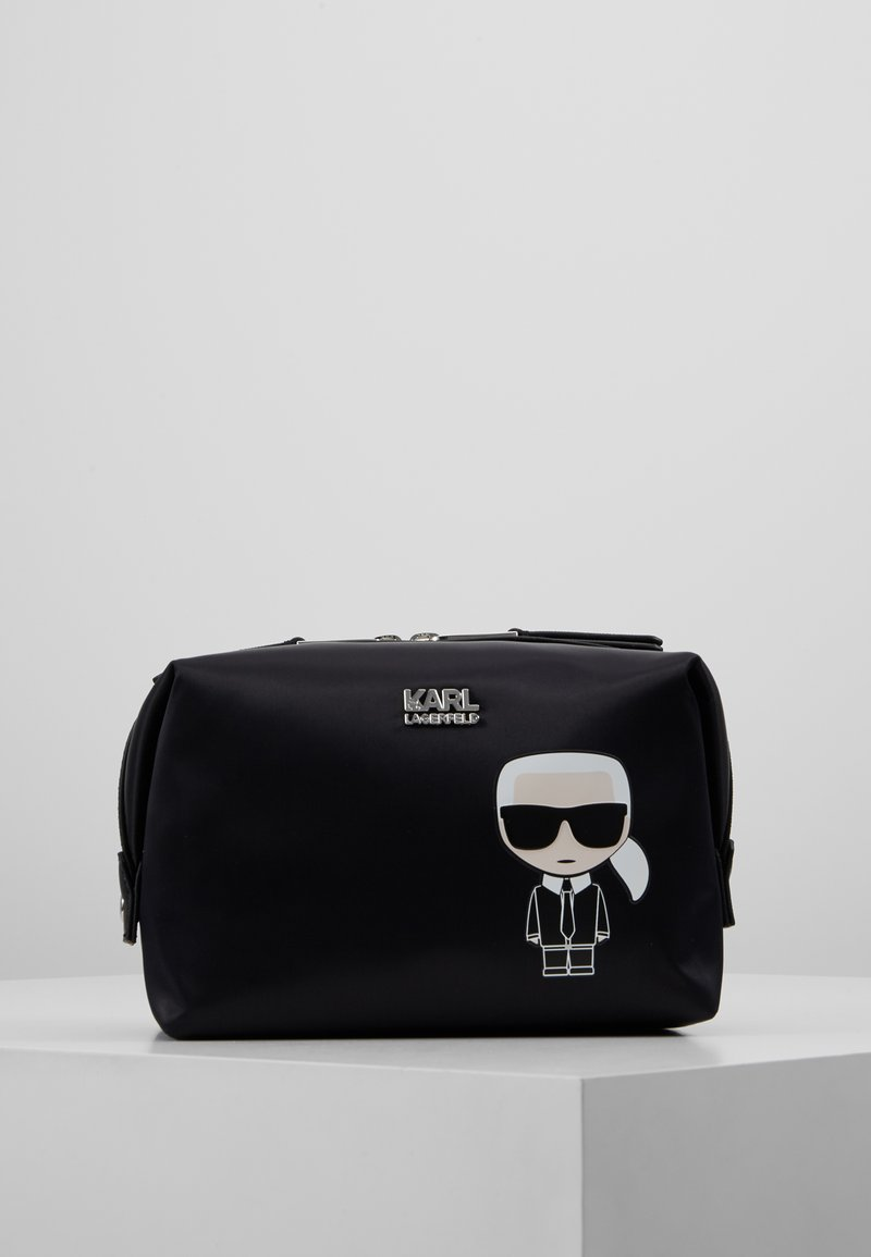 KARL LAGERFELD - IKONIK WASHBAG - Wash bag - black