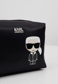 KARL LAGERFELD - IKONIK WASHBAG - Wash bag - black - 2