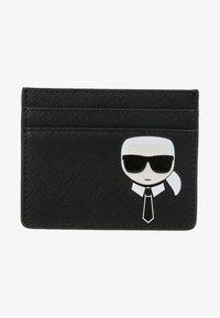 KARL LAGERFELD - IKONIK CARD HOLDER - Wallet - black - 2