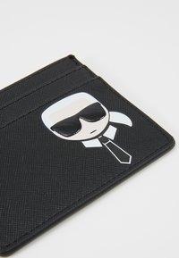 KARL LAGERFELD - IKONIK CARD HOLDER - Wallet - black - 3