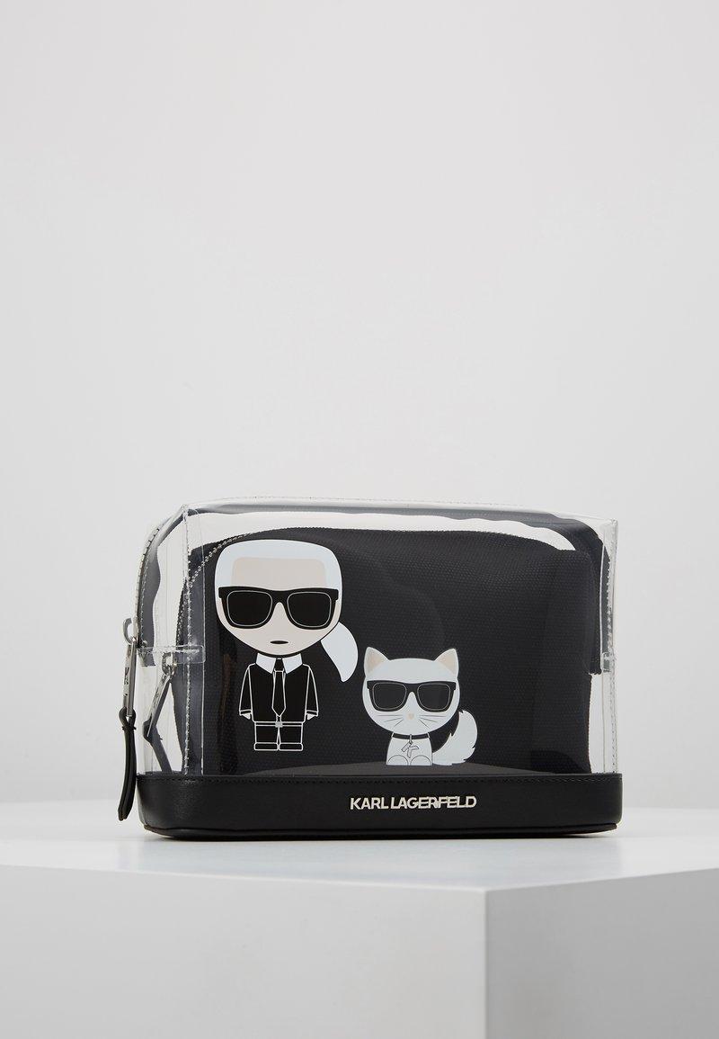 KARL LAGERFELD - IKONIK POUCH - Wash bag - transparent