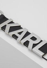 KARL LAGERFELD - LOGO KEYCHAIN - Portachiavi - black/white - 3