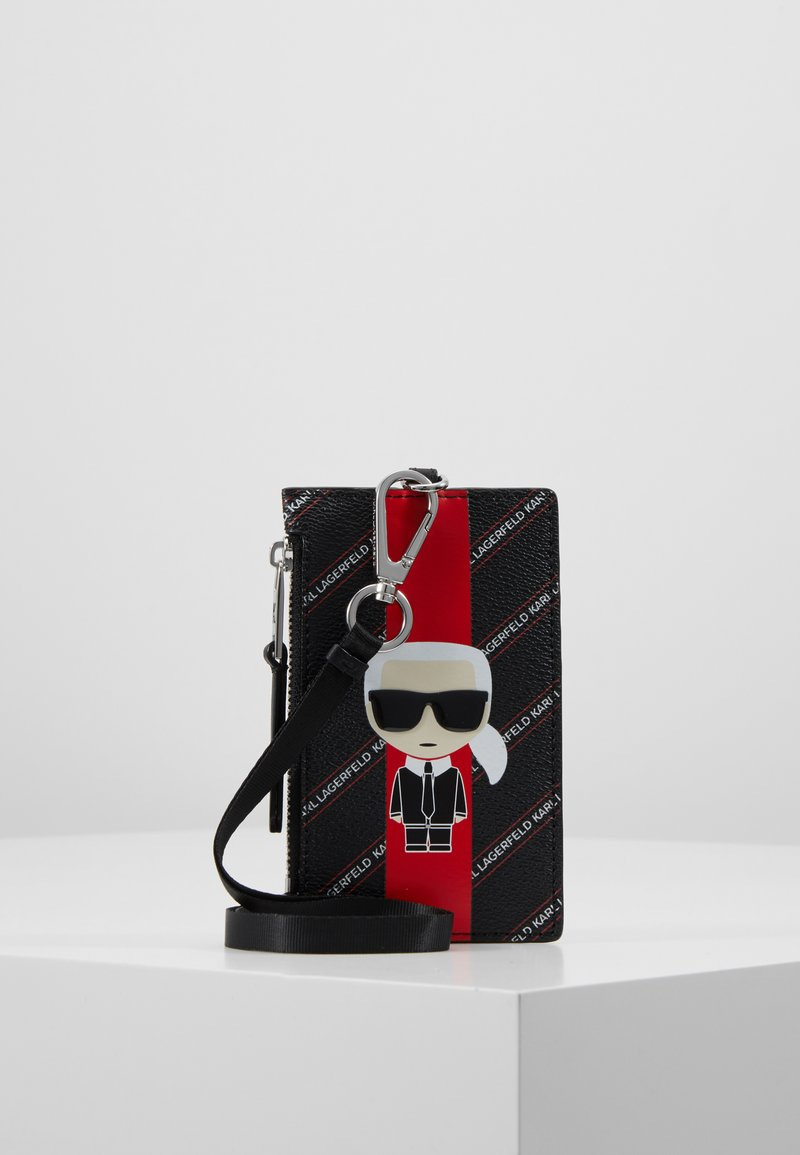 KARL LAGERFELD - STRIPE IKONIK CARD HOLDER - Wallet -  black