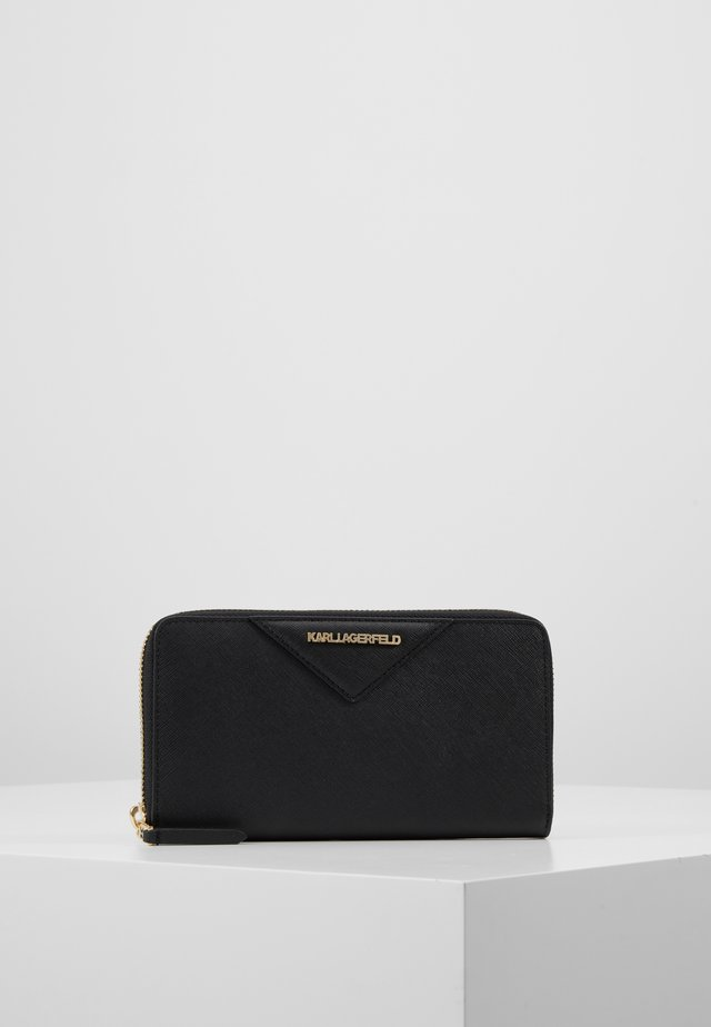 KLASSIK ZIP AROUND WALLET - Geldbörse - black/gold
