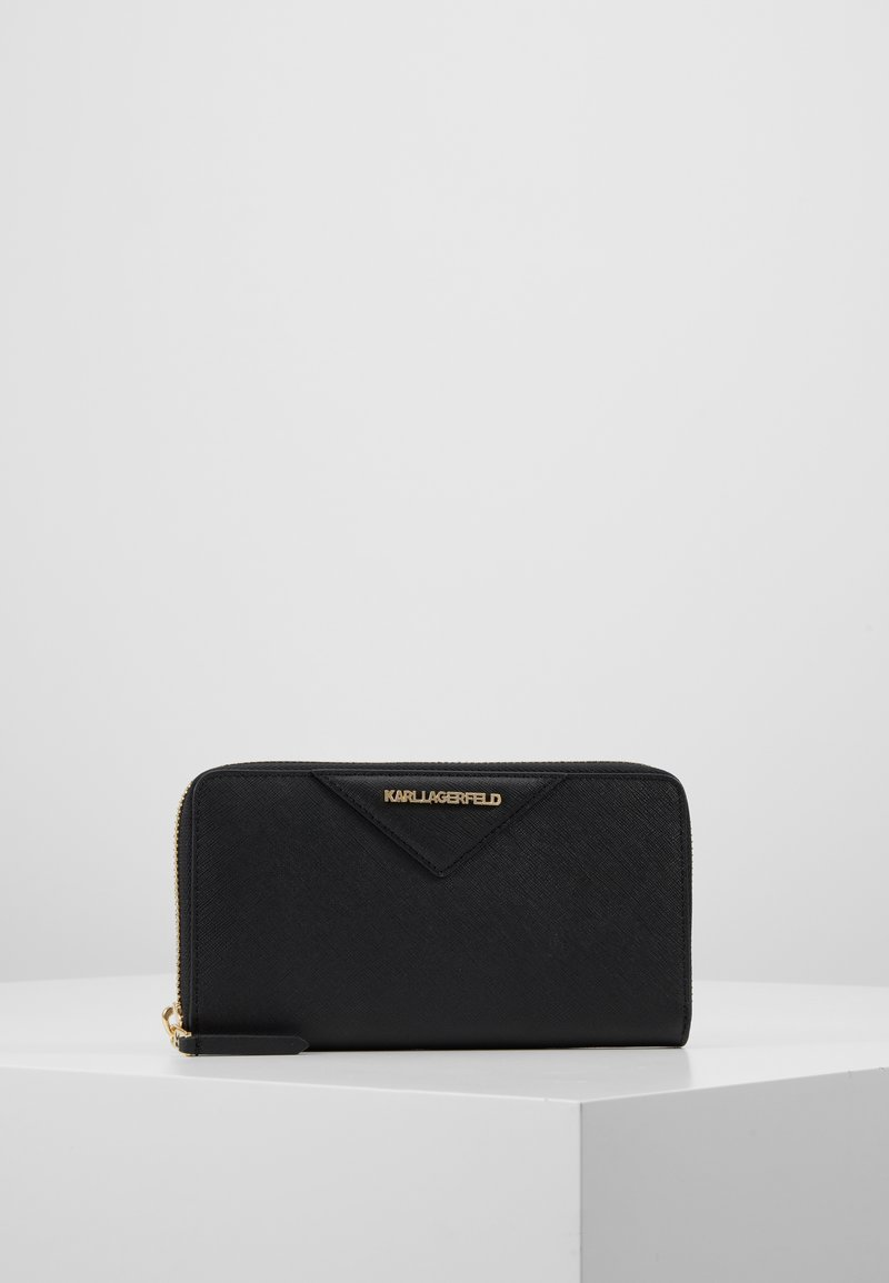 KARL LAGERFELD - KLASSIK ZIP AROUND WALLET - Wallet - black/gold