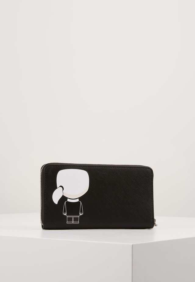 IKONIK LARGE ZIP WALLET - Portefeuille - black