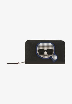 PIXEL FOLDED ZIP WALLET - Wallet - black