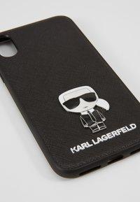 KARL LAGERFELD - IKONIK PIN XS - Handytasche - black - 2
