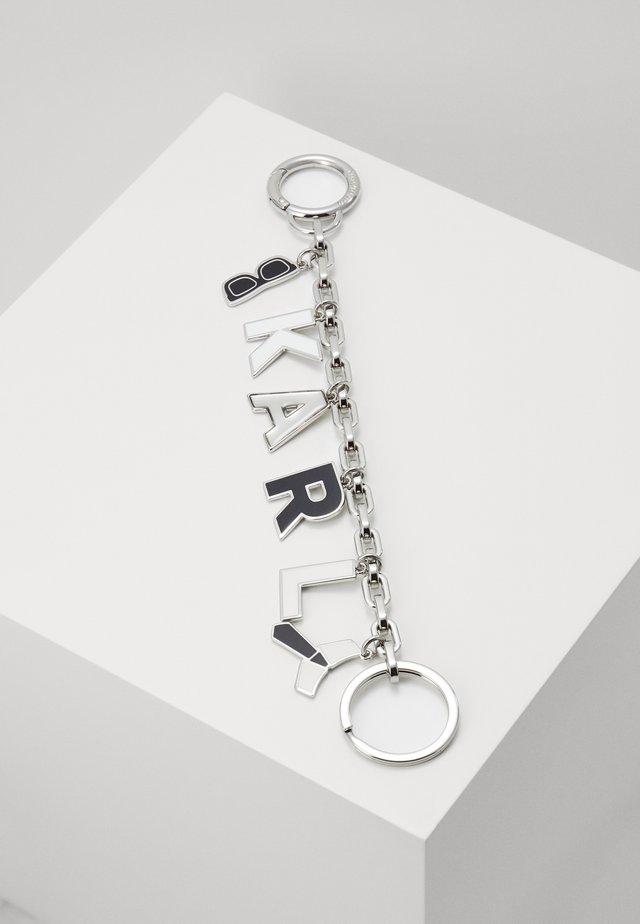 CHARMS HANGING KEYCHAIN - Schlüsselanhänger - black/white